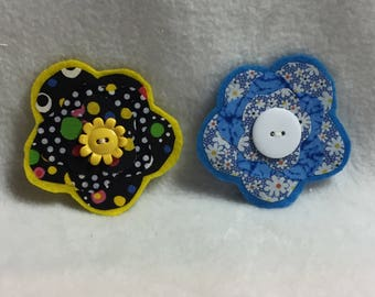 Flower Hair Clips - Set of 2 (#012)