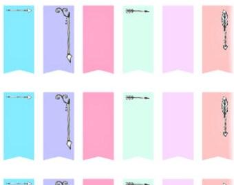 Arrows/Flags // Planner Stickers // Erin Condren // Personal Filofax