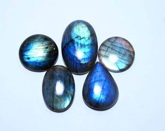 Natural Labradorite Mix shape loose semi precious gemstone cabochon size 36.5 To 24 mm approx wholesale gemstone GE-285