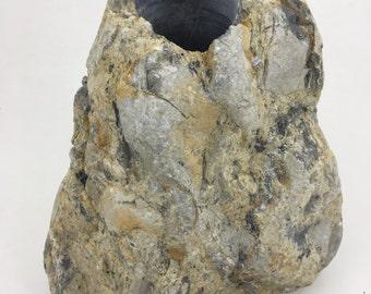 Stone Vase Rock Art Holder
