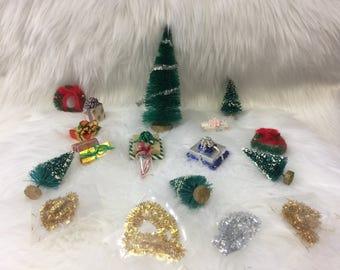 Vintage Dollhouse Miniature Christmas scene