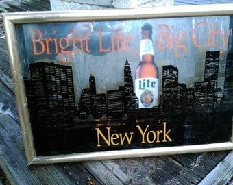 Miller lite New York mirror