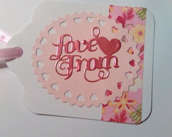 Gift Tags - Gift Labels - Swing Tags - Handmade Tags - Pink Tags - Love From Tags - Large Gift Tags
