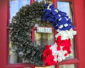 Customized Army Wreath