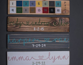 Personalized Child Name Sign