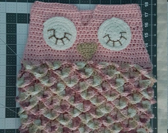 Pink Baby Owl Snuggle Sack (cocoon), size 0-3 months