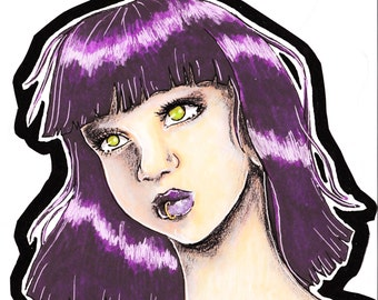 The Purple Haired Girl - Original
