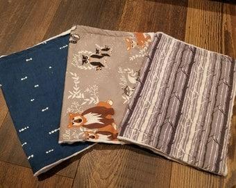 Set of 3 18in x 12in Burp Cloth Set