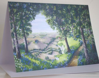 Lydney Bluebell View, Glos A5 card