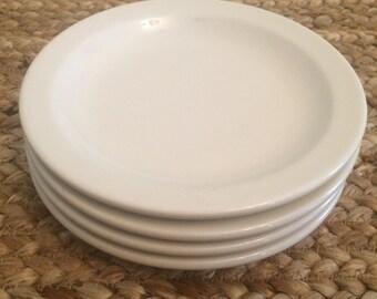 Vintage White Ironstone Saucers