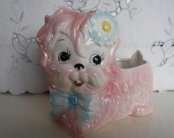 RUBENS PLANTER, pink little dog