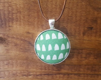 Green Thumb Fabric Necklace
