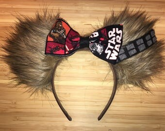 STAR WARS Chewbacca Disney Ears with Hidden Mickey