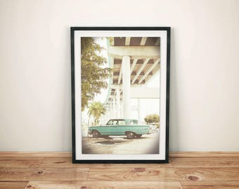 Vintage Car Print, Oldschool Car Poster, Mint Green Vintage Decor, Retro Wall Art, Classic Car Photo, Vintage Wall Decor, Instant Download