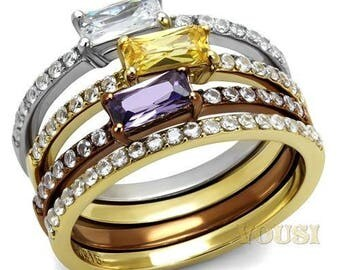 Women's Gold Plated Rings Sizes 5-10