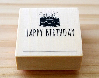 CLEARANCE SALE - Rubber stamp - Happy Birthday - stamp