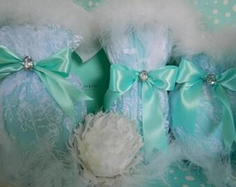 Bridal Shower Centerpiece, Robin Egg Blue, Bridal Shower Favors, Aqua Bridal Shower Decor, Turquoise, Tiffany, Tiffany Blue Bridal Shower