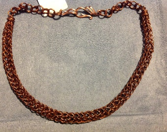Copper Viking weave necklace