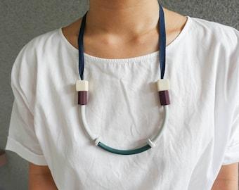 Colour block minimalist necklace jewellery