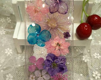 Handmade nature pressed dried flower iPhone 5/5S case