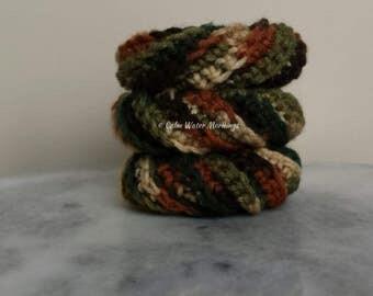 3 Crochet Dish Scrubbies (Woodsy)