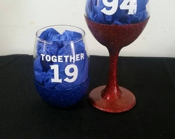 Couples wine glass set