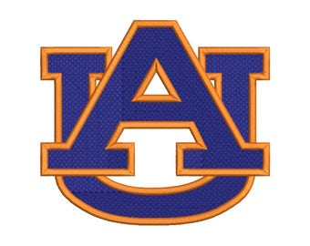 Auburn Tigers Embroidery Design - 5 SIZES