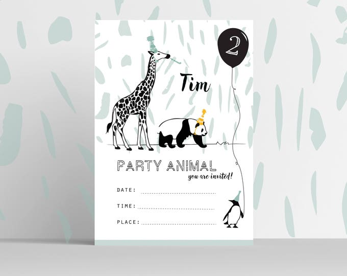 Featured listing image: Printable Invite Birthday Boy // editable
