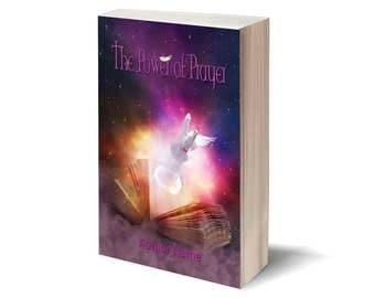 The Power of Prayer - Personalized Book Cover / Publish Yourself! / Digital art - cover illustration / Gift: cover for Facebook.