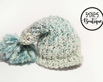 Newborn Boy Hat.  Blue