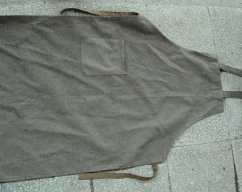 Green Canvas Apron/ Vintage Military Army Apron/ Industrial Apron/Soviet Cold War Apron/1980s/Unused
