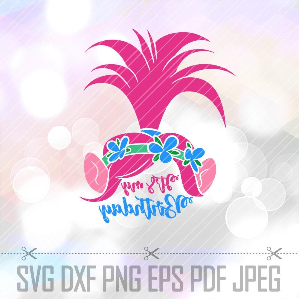 Svg Poppy Trolls Hair Clip Art Cut File Cricut Silhouette