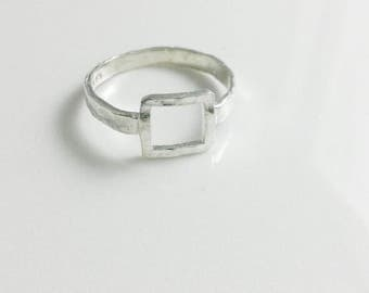 Hammered Ring - Square