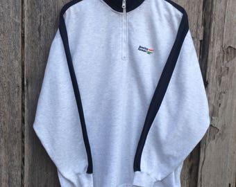 Vintage colors of benetton Embroidery benetton F1 Sweatshirt