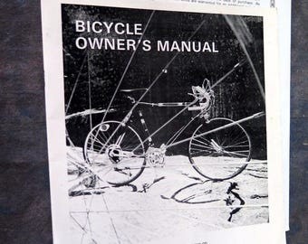 Murray Bicycle Instruction and Maintenance Owners Manual f-4548