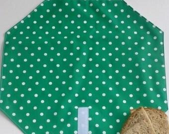 OnTheGoSandwich Sandwich wrap: Green polka dots