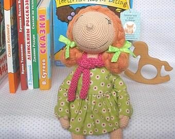 doll, interior doll, handmade doll, knitted doll, toy, crosheting doll, interior, kids room, decor