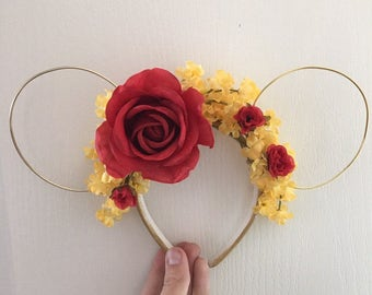 Enchanted Rose Princess Inspired Mouse Ears