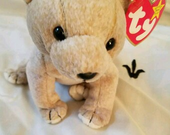 Ty Beanie Babies Retired Almond the Bear Plush Stuffed Animal