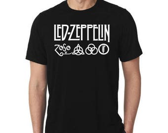 t shirt led zeppelin rock legend british indie hipster swag hard alternative music logo pop lotta love 100% cotton made in italy