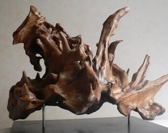 Vulcan, sculpture strain chestnut, interior decoration art