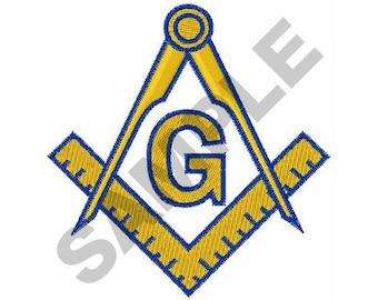 Masonic Emblem - Machine Embroidery Design