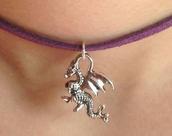 12 x Child's Dragon Choker, Dragon Pendant, Fantasy Necklaces, Dragon Necklace, Party Bag Filler, Birthday Favors, Party Favors, Loot Bag,