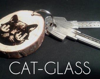 Noise From Mass - Cat-Glass, D-Ball, Skullcandy - Engraved Keychain