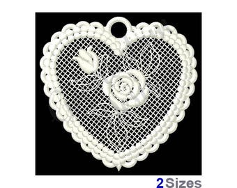 Fsl Heart Free Standing Lace - Machine Embroidery Design