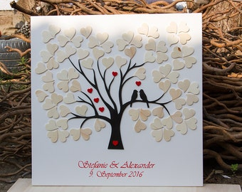 Leave a wedding tree alternative Guestbook Wood