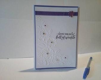 Birthday card, greeting card, congratulations card, wedding card, handmade card, blank card, mothers day card, hand made card, card for her