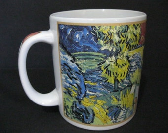 Vintage Van Gogh Mug, Village Street and Steps in Auvers Mug, Cafe Arts Mug, Masterpiece Art Mug