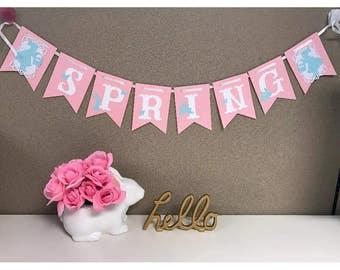 Pink SPRING banner
