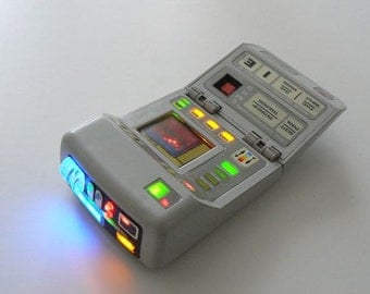 Star Trek Playmates Science Tricorder Upgrade Electronics Kit! + Battery System